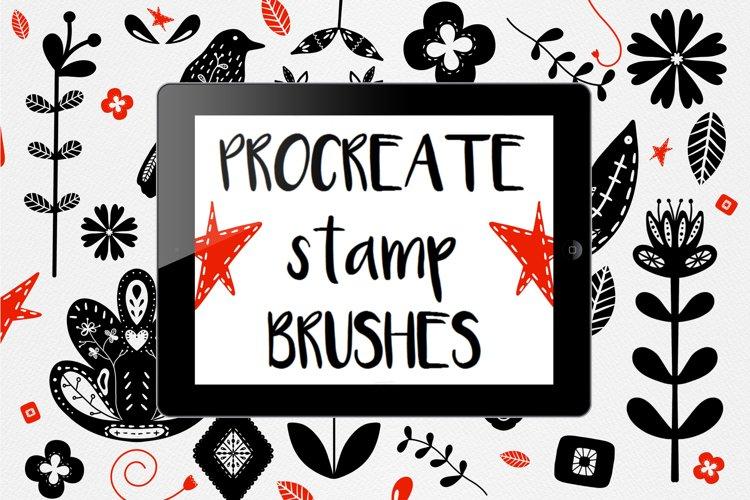 Procreate stamp brushes example image 1