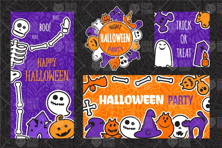 Halloween Party Banners Set example image 1