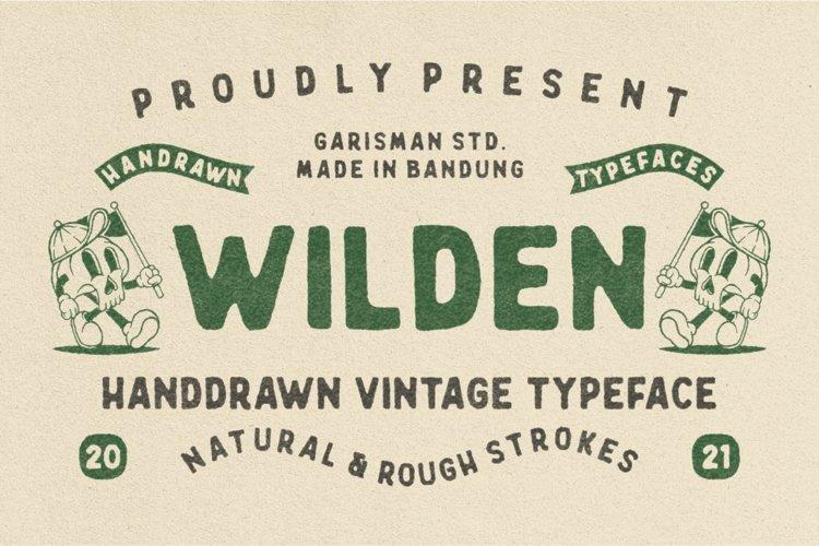 Wilden - Handdrawn Vintage Typeface
