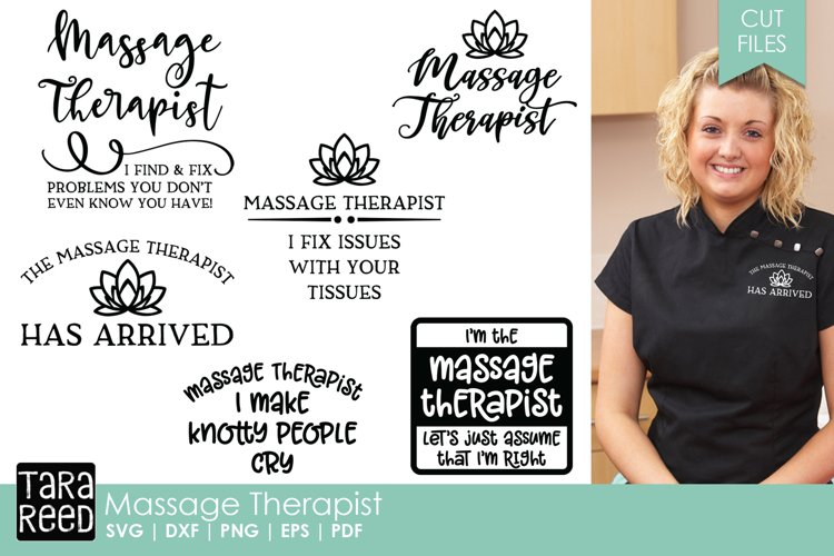 Massage Therapist SVG and Cut Files for Crafters example image 1