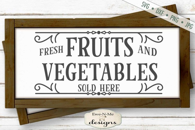 Fruits and Vegetables | Farmers Market SVG example image 1