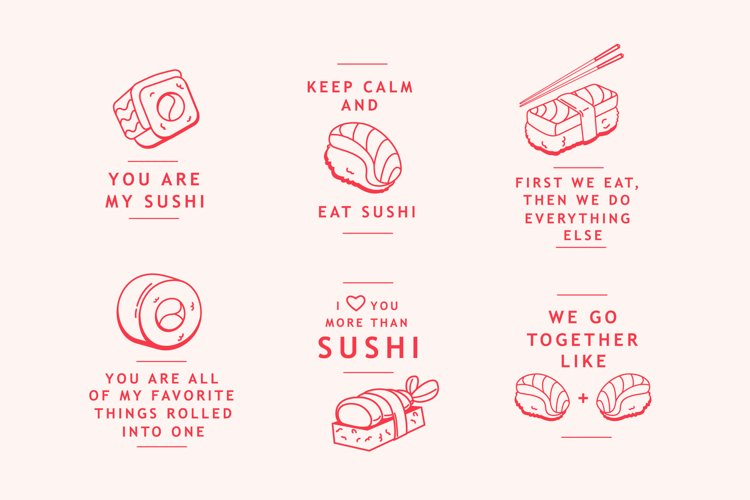 Sushi Lover Badges example image 1