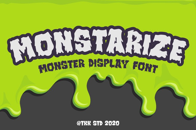 Monstarize - Horror Font example image 1