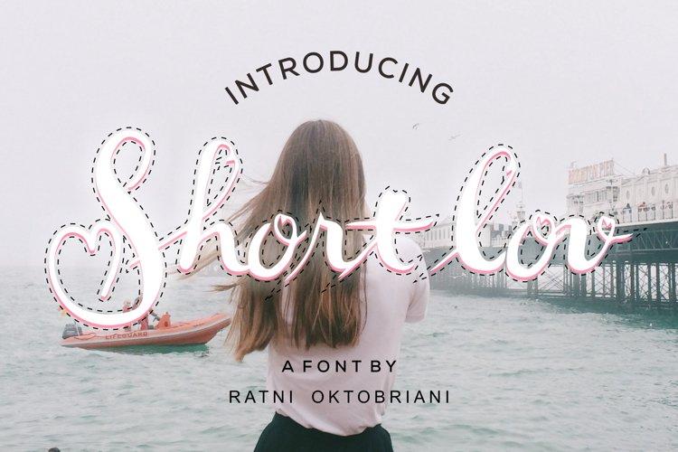 Short Lov - A Script Font example image 1