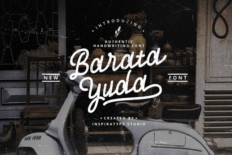 Baratayuda - Authentic Handwriting Font example image 1