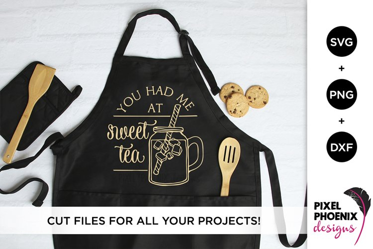 You had me at Sweet Tea - Kitchen SVG example image 1