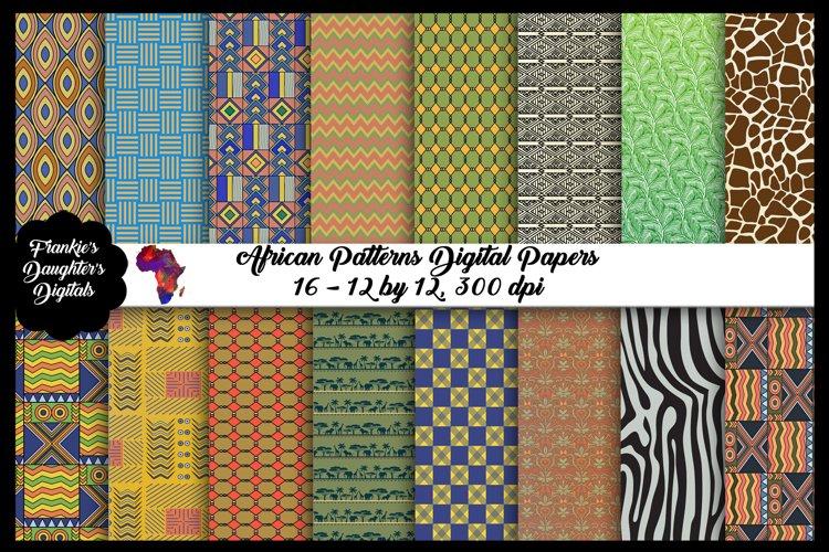African Patterns Digital Paper Pack