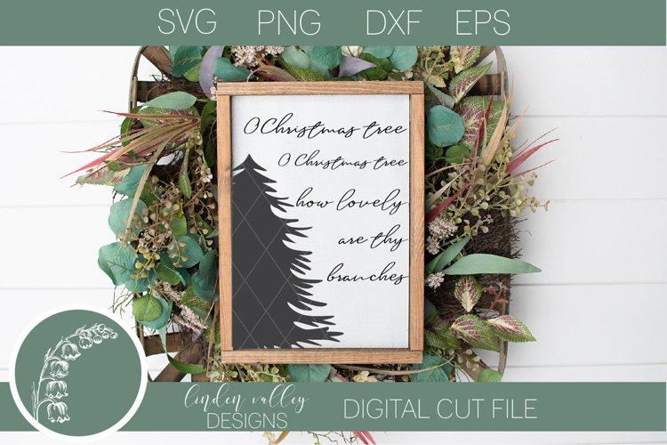 O Christmas Tree SVG| Pine Tree SVG|Winter Scene SVG example image 1