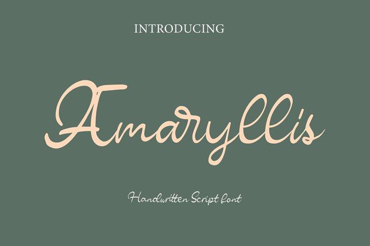 Amaryllis Script example image 1