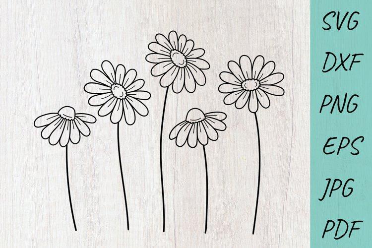 Flower svg, Daisy svg, wildflowers svg, Cute flowers