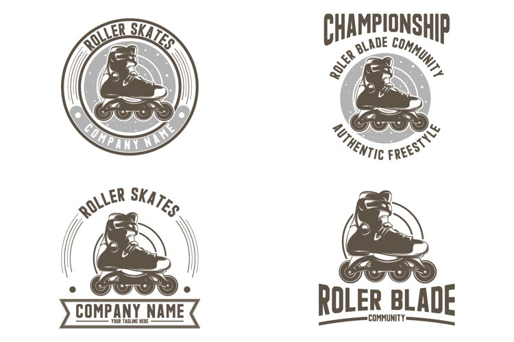 Collection of roller skates logo example image 1