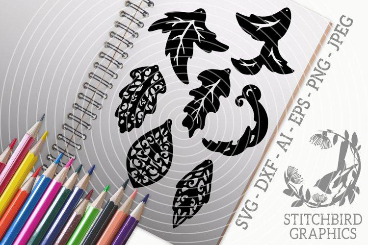 Leaf Earrings SVG, Silhouette Studio, Cricut, Eps, Jpeg