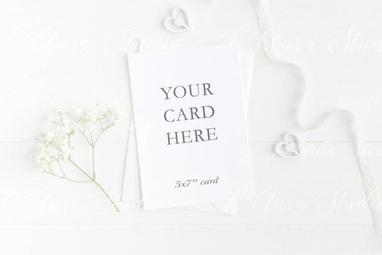 Wedding invitation mockup - 5x7'' example image 1