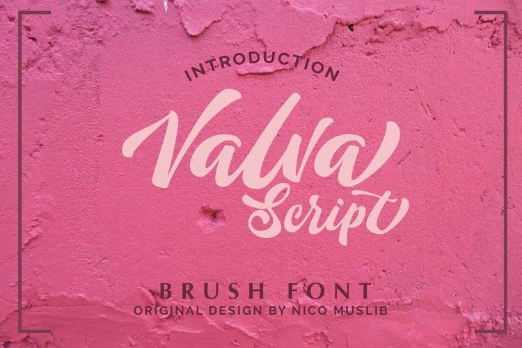 Valva Script Style example image 1