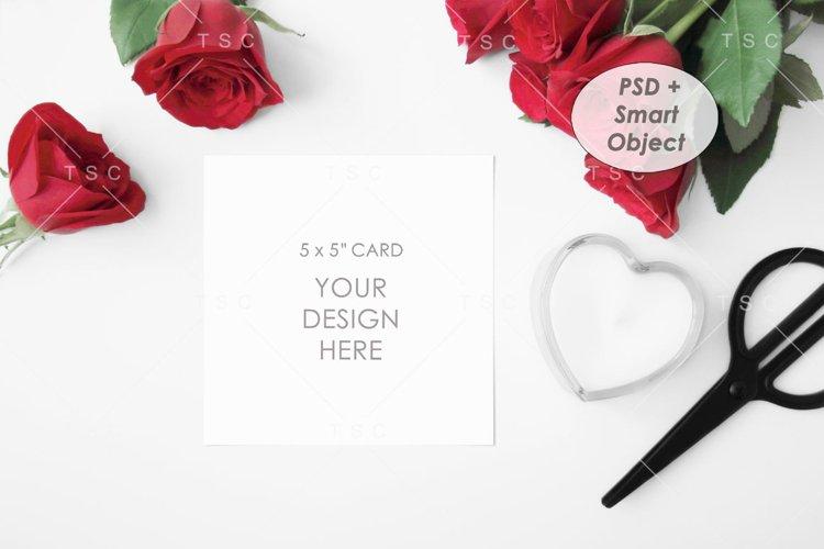 "5"" x 5"" Card Mockup / Square Card / Invitation Card example image 1"