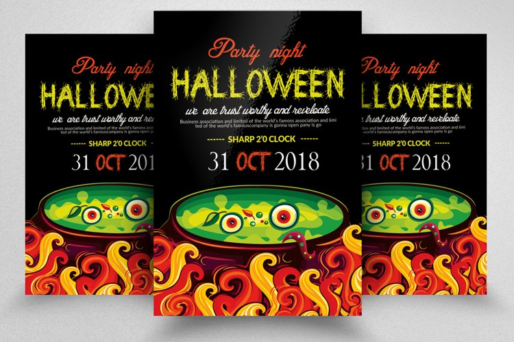 Halloween Party Night Flyer example image 1