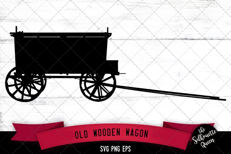 Old wooden wagon Svg Cut File