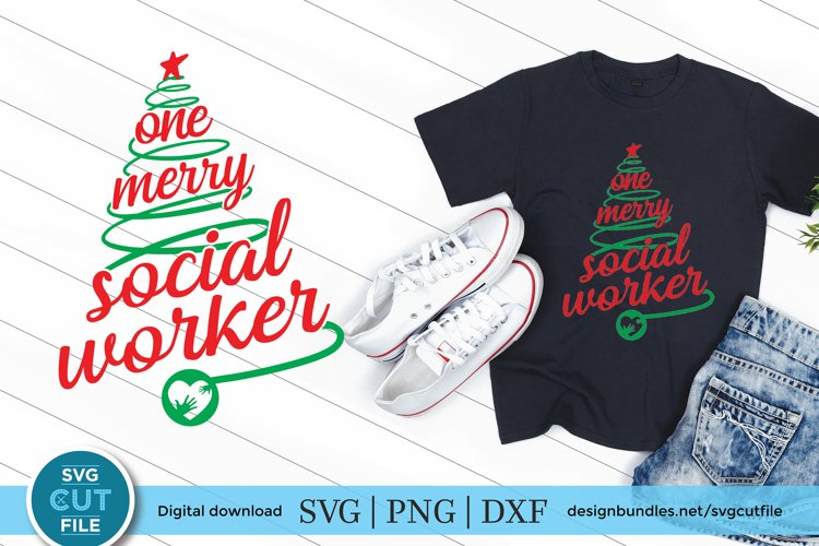 Christmas Social Worker svg - One Merry social worker svg example image 1