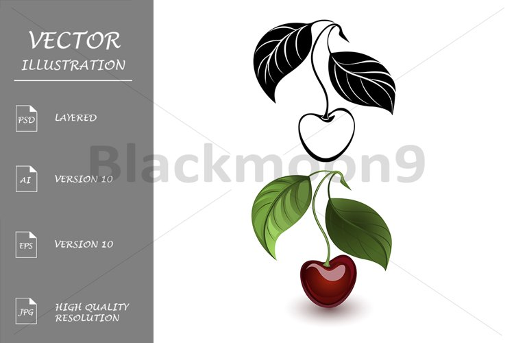 Red and black cherry example image 1