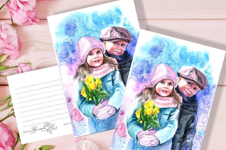 Artistic digital printing. Cute printed poster, nice decor. example image 1