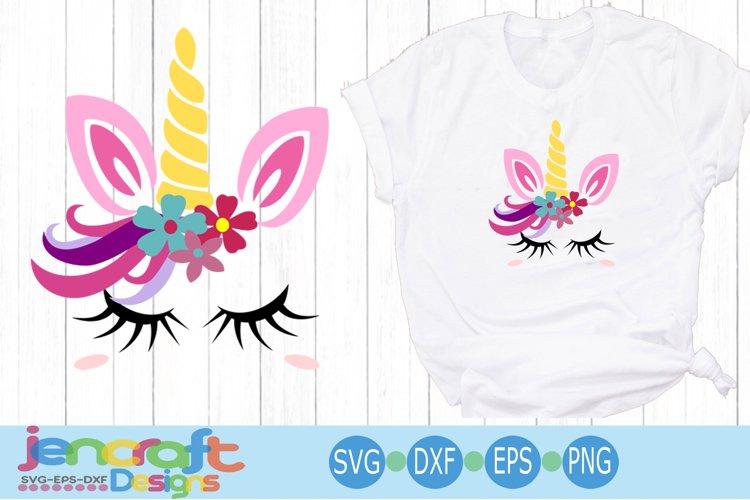Floral girl unicorn svg eps, dxf cut file