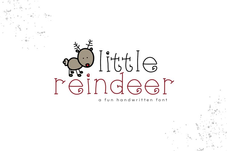 Little Reindeer - A Cute Handwritten Font example image 1