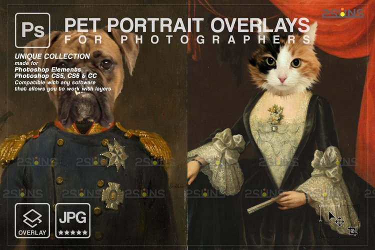 Royal Pet Portrait templates vol.20, Digital pet art example image 1