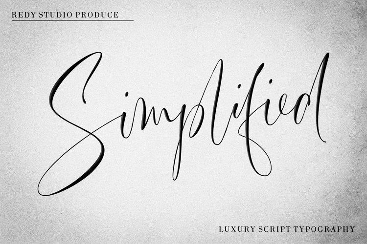 Simplified | Luxury Script example image 1