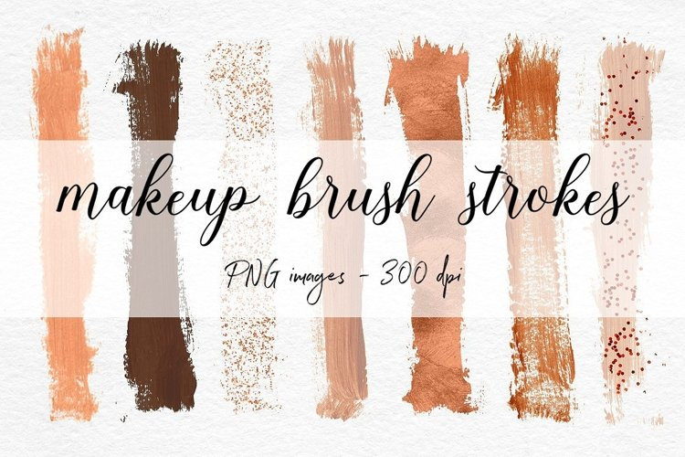 Copper Brush Strokes Clipart example image 1