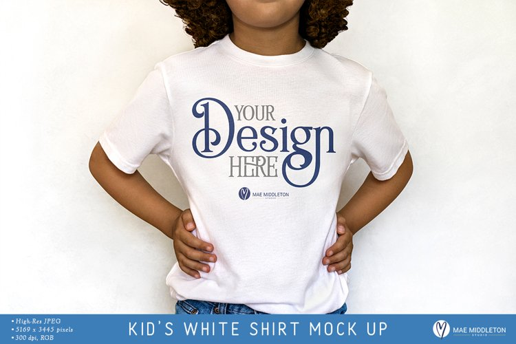 Kids T-shirt Mock up | Styled photo