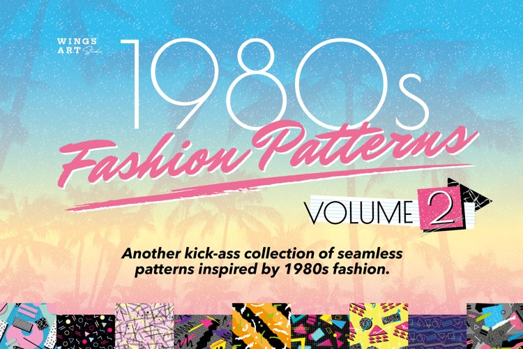 1980s Retro Fashion Patterns Volume 2