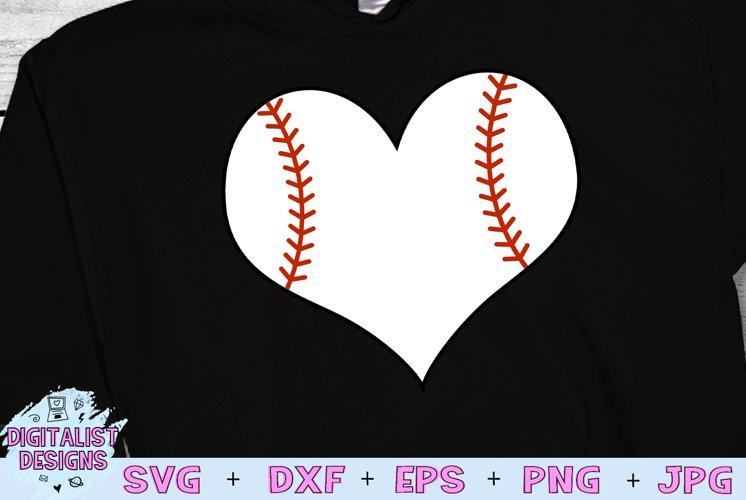 Baseball Heart SVG   Baseball SVG   Sports SVG example image 1