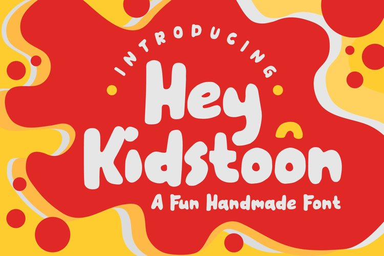 Hey Kidstoon a fun handmade font example image 1