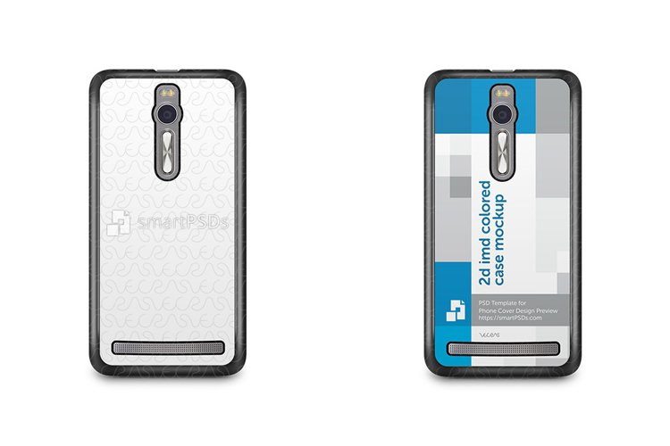 ASUS Zenfone 2 2d IMD Colored Mobile Case Mockup 2015 example image 1
