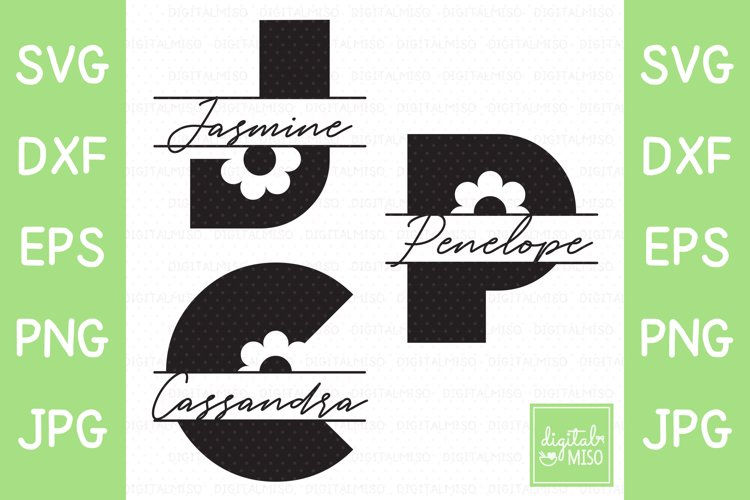 A-Z Bundle Floral Block Letter Monogram SVG example image 1
