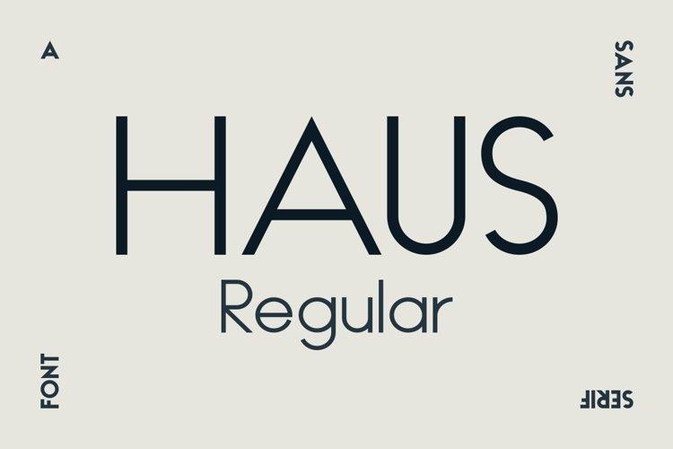 HAUS Sans Regular example image 1