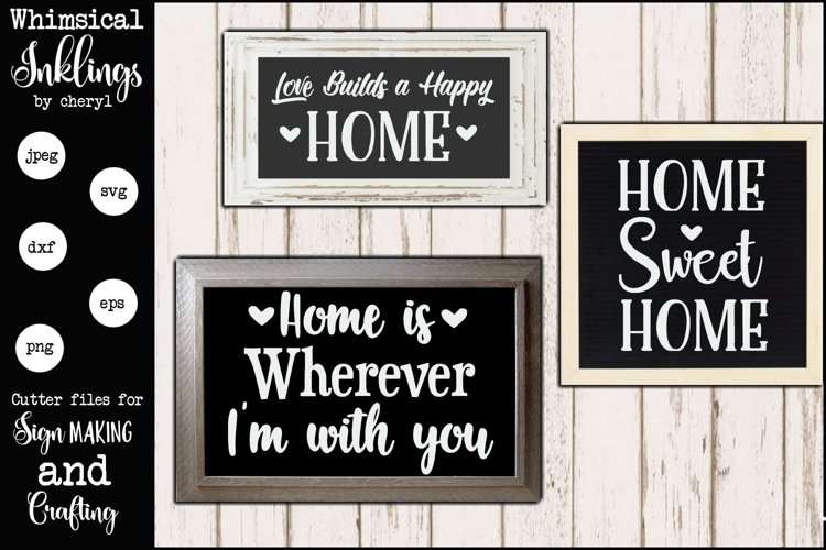 Love Builds a Happy Home SVG example image 1