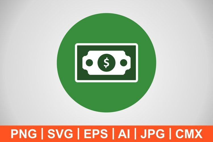 Vector Bank note Icon example image 1