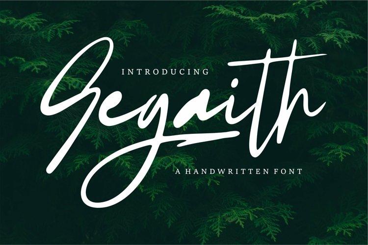 Web Font Segaith - Handwritten Font example image 1