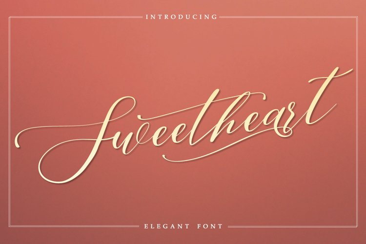 Sweetheart - Elegant Font example image 1