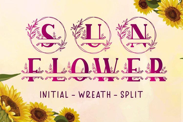 Sunflower Monogram example image 1