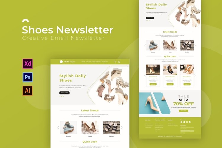 Shoes | Email Newsletter Template example image 1