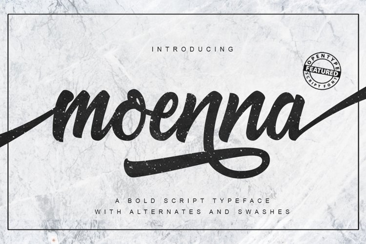 Moenna Script example image 1