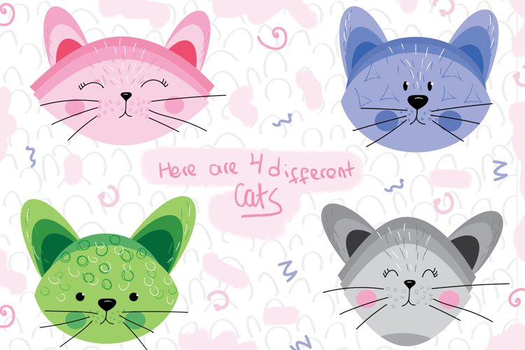 Cute Cats and Patterns example 1