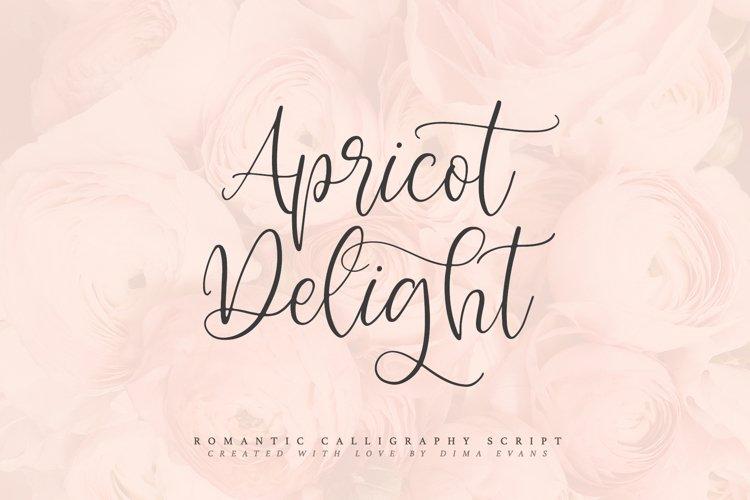 Apricot Delight | Romantic Script example image 1