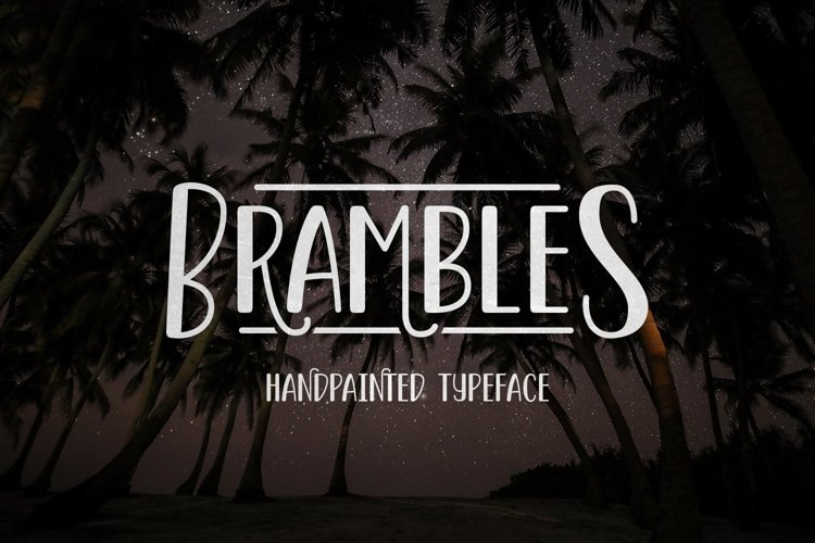 Web Font Brambles example image 1