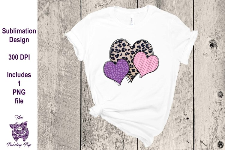 Valentine Hearts Sublimation File example image 1