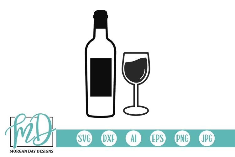 Wine Bottle SVG - Wine Glass SVG - Wine SVG