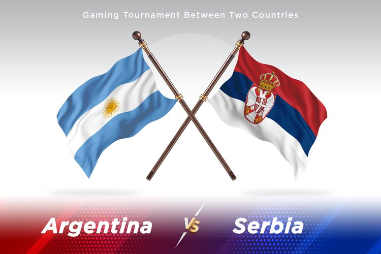 Argentina vs Serbia Two Flags example image 1