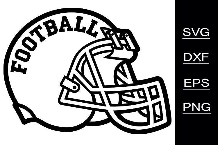 Football Helmet SVG cutting files example image 1
